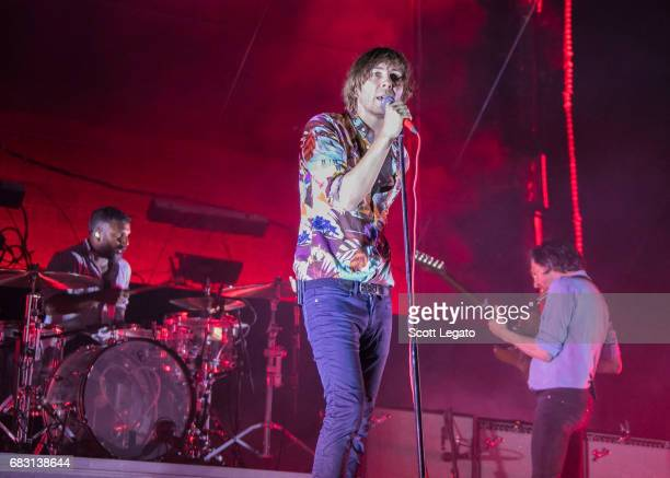 Musician Thomas Mars of Phoenix performs during day 3 of Shaky Knees Festival at Centennial Olympic Park on May 14 2017 in Atlanta Georgia