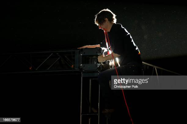 Musician Thomas Mars of Phoenix performs onstage during day 2 of the 2013 Coachella Valley Music Arts Festival at the Empire Polo Club on April 13...