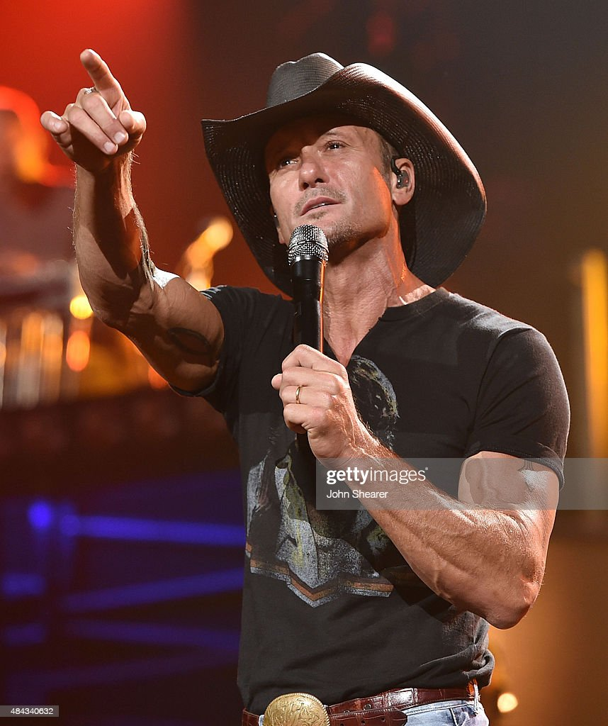 Tim McGraw Performs At Bridgestone Arena - August 15, 2015