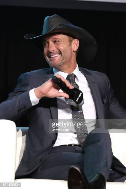 Musician Tim McGraw speaks during the Billboard 2017 Touring Conference Legends Of Live Tim McGraw And Faith Hill at Montage Beverly Hills on...