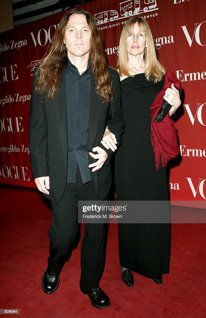Musician Timothy B  Schmit and his wife attend the Valentine