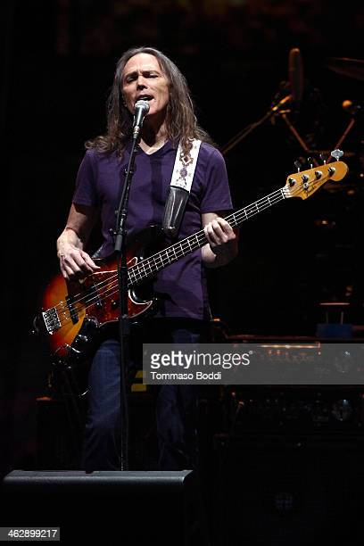 Musician Timothy B Schmit of The Eagles performs at the grand opening of the newly renovated Forum on January 15 2014 in Inglewood California