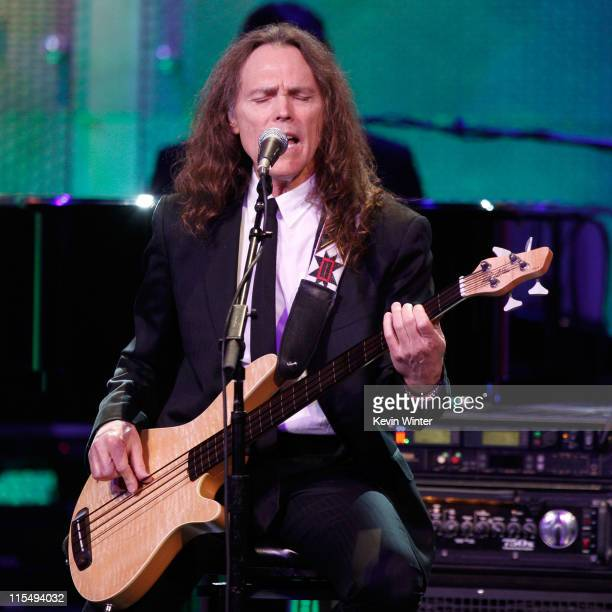 Musician Timothy B. Schmit of The Eagles performs onstage during the 16th Annual Race To Erase MS event co-chaired by Nancy Davis and Tommy Hilfiger...