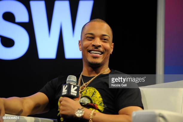 Musician Tip 'TI' Harris speaks onstage at 'A Conversation with TI' during 2017 SXSW Conference and Festivals at Austin Convention Center on March 18...