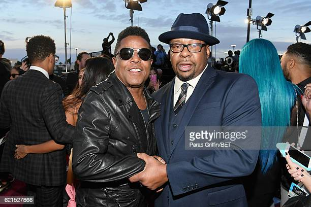 Musician Tito Jackson and singer Bobby Brown attend the 2016 Soul Train Music Awards at the Orleans Arena on November 6, 2016 in Las Vegas, Nevada.