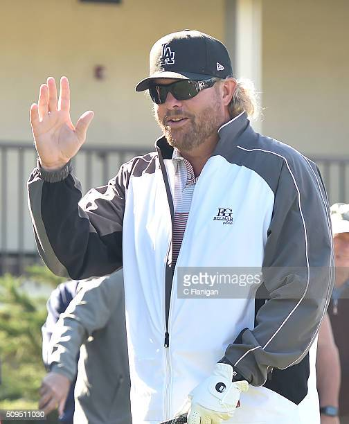 Musician Toby Keith is seen at the 3M Celebrity Challenge during the ATT Pebble Beach National ProAm at Pebble Beach Golf Links on February 10 2016...