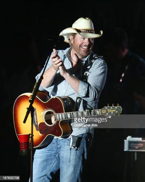 Musician Toby Keith performs onstage at day 1 of the 2013 Stagecoach California's Country Music Festival at The Empire Polo Field on April 26 2013 in...