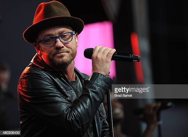 Musician tobyMac performs in concert at Duffy Square in Times Square on July 10 2015 in New York City
