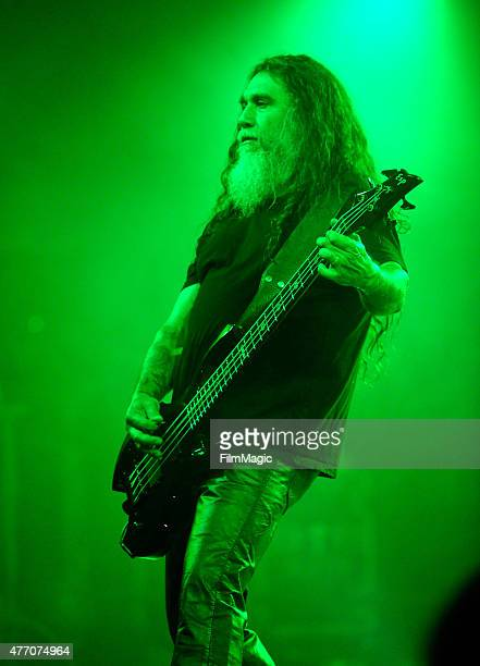 Musician Tom Araya of Slayer performs onstage at This Tent during Day 3 of the 2015 Bonnaroo Music And Arts Festival on June 13 2015 in Manchester...