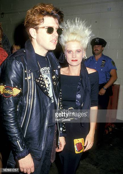 Musician Tom Bailey and musician Alannah Currie of pop group Thompson Twins attend Billy Idol in Concert on August 5 1987 at Madison Square Garden in...