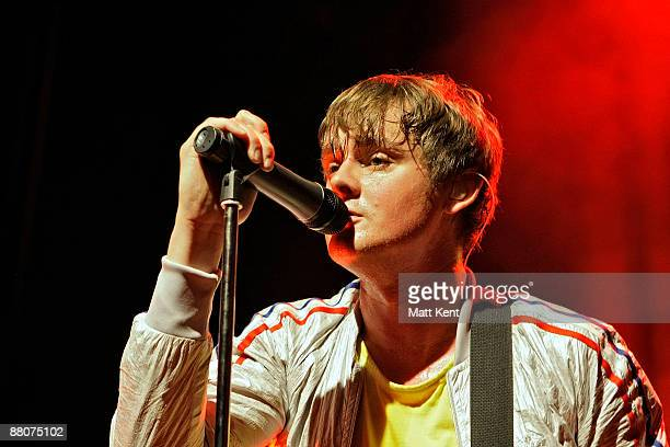 Musician Tom Chaplin of Keane performs on stage to celebrate 50 years of Island Records at Shepherds Bush Empire on May 30 2009 in London United...