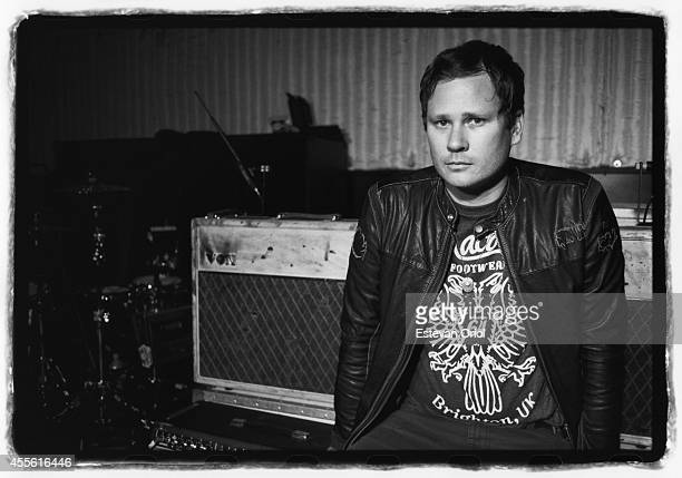 Musician Tom DeLonge of Blink 182 poses for a publicity photo shoot at the Sound Matrix Studio for their album Neighborhoods in Orange County...