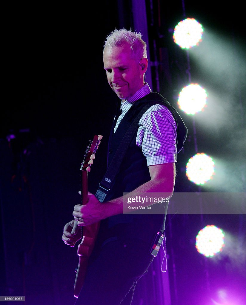 Musician Tom Dumont of No Doubt performs at Gibson Amphitheatre on November 24, 2012 in Universal City, California.