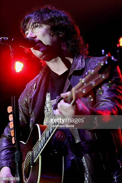 Musician Tom Higgenson of Plain White T's perform at the Grove Summer Concert Series held at The Grove on July 6 2016 in Los Angeles California