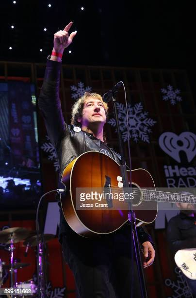 Musician Tom Higgenson of Plain White T's performs onstage during the 'Live at the Atrium' Holiday Concert Series in Partnership with KIISFM...