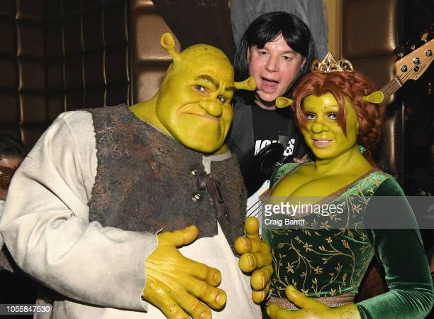 Musician Tom Kaulitz Actor Mike Myers and Model Heidi Klum attend Heidi Klum's 19th Annual Halloween Party Sponsored by SVEDKA Vodka and Party City...