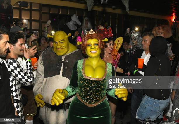 Musician Tom Kaulitz and model/TV personality Heidi Klum attend Heidi Klum's 19th Annual Halloween Party Sponsored by SVEDKA Vodka and Party City at...