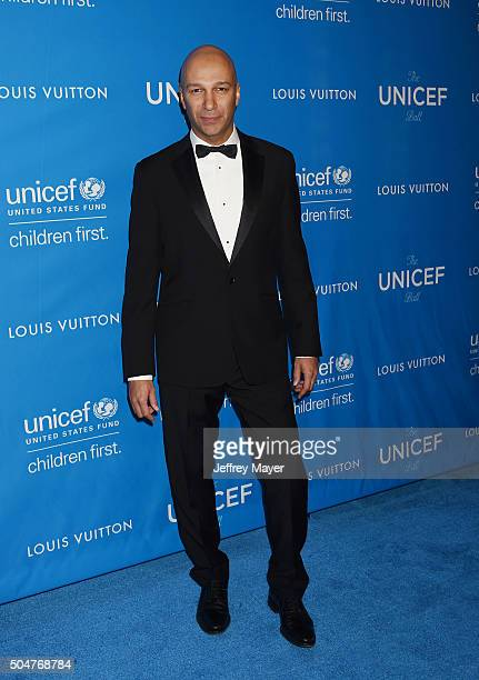 Musician Tom Morello arrives at the 6th Biennial UNICEF Ball at the Beverly Wilshire Four Seasons Hotel on January 12 2016 in Beverly Hills California