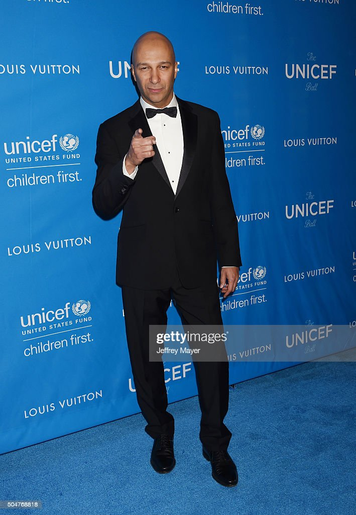 Musician Tom Morello arrives at the 6th Biennial UNICEF Ball at the Beverly Wilshire Four Seasons Hotel on January 12, 2016 in Beverly Hills, California.