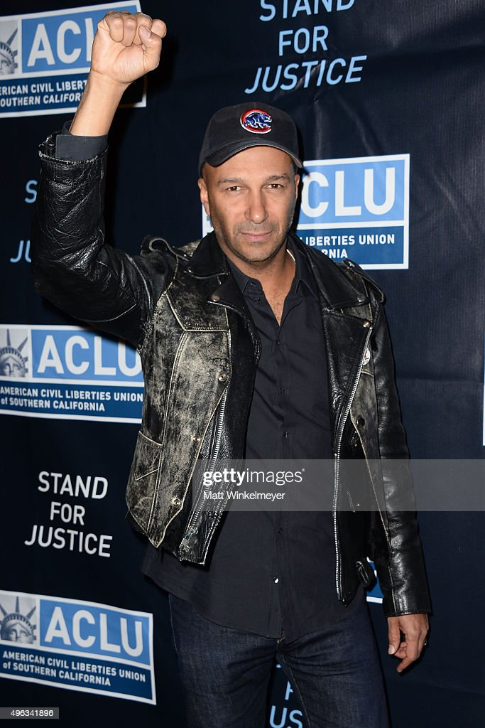 Musician Tom Morello attends the ACLU SoCal hosts 2015 Bill of Rights Dinner at the Beverly Wilshire Four Seasons Hotel on November 8, 2015 in Beverly Hills, California.