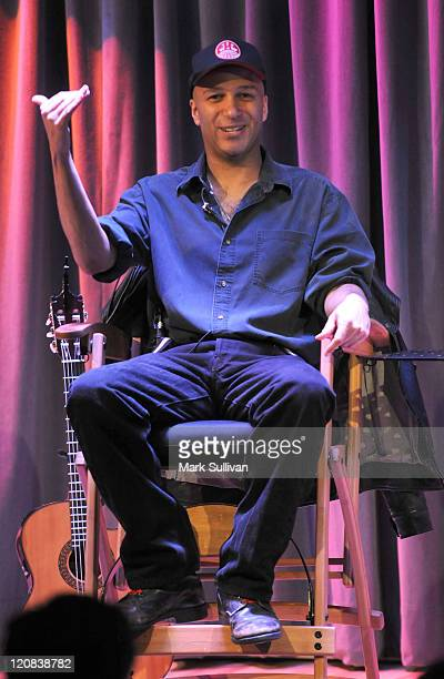 Musician Tom Morello interviewed during An Evening With Tom Morello at the GRAMMY Museum on March 31 2009 in Los Angeles California