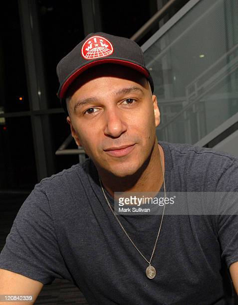 Musician Tom Morello poses during An Evening With Tom Morello at the GRAMMY Museum on March 31 2009 in Los Angeles California