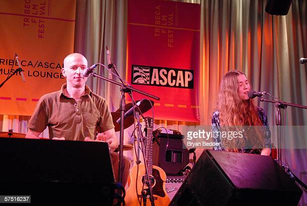 Musician Tom Osander and singer Lisa Hannigan perform at the Tribeca/ASCAP Music Lounge at Canal Room during the 5th Annual Tribeca Film Festival May...