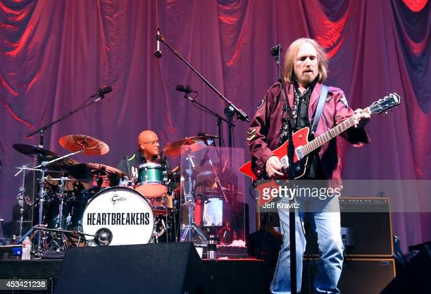 Musician Tom Petty of Tom Petty The Heartbreakers performs at the Lands End Stage during day 2 of the 2014 Outside Lands Music and Arts Festival at...