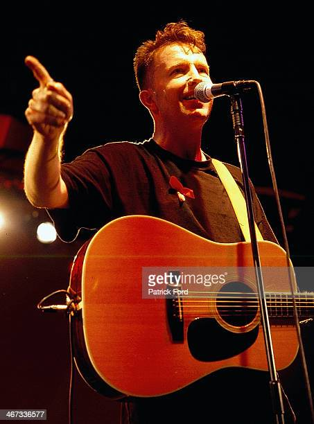 Musician Tom Robinson on stage at Fleadh Festival Finsbury Park London England 1994
