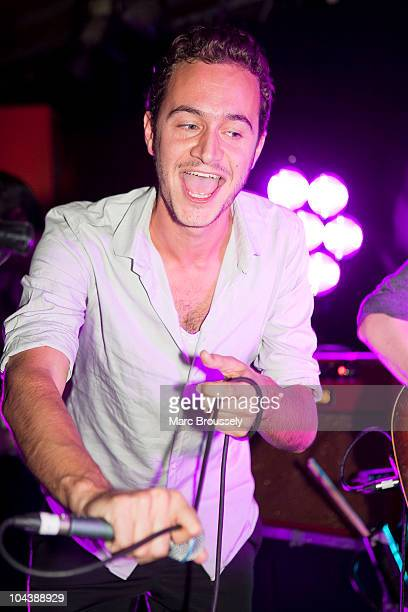 Musician Tom Smith of Editors performs on stage with I Am Arrows at The 100 Club on September 23 2010 in London England
