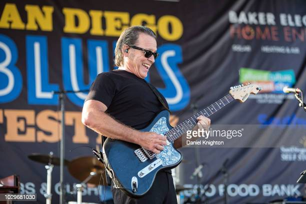 Musician Tommy Castro of Tommy Castro The Painkillers performs on stage at Embarcadero Marina Park South on September 8 2018 in San Diego California