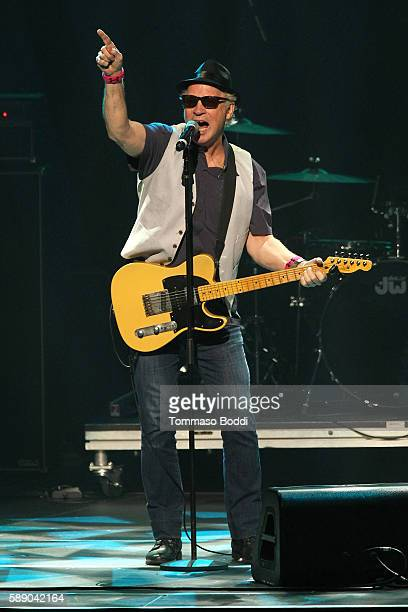 Musician Tommy Heath of Tommy Tutone performs on stage at the 80's Weekend held at Microsoft Theater on August 12 2016 in Los Angeles California