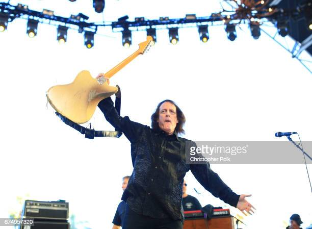 Musician Tommy James and the Shondelles performs on the Palomino Stage during day 2 of 2017 Stagecoach California's Country Music Festival at the...