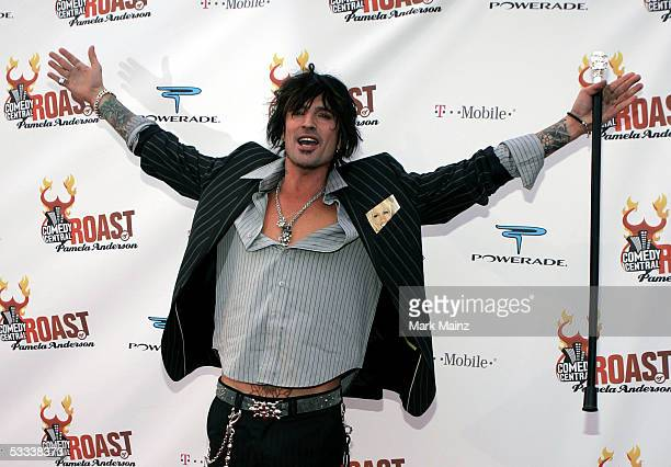 Musician Tommy Lee arrives at the Comedy Central Roast of Pamela Anderson at Sony Studios on August 7 2005 in Culver City California