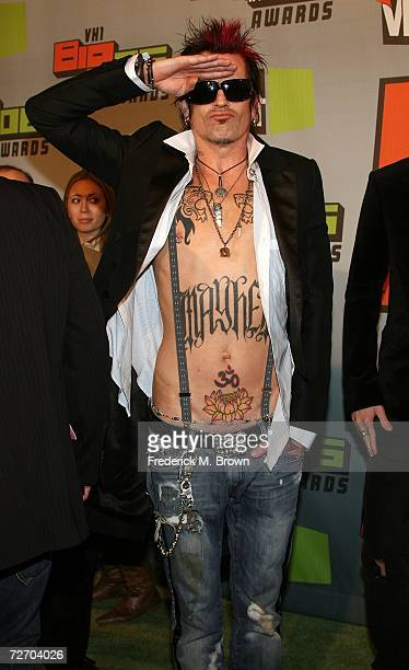 Musician Tommy Lee arrives to the VH1 Big in '06 Awards held at Sony Studios on December 2 2006 in Culver City California