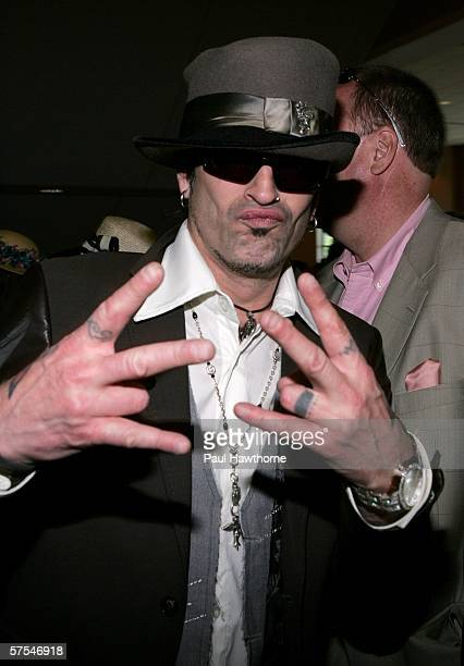 Musician Tommy Lee attends the 132nd Kentucky Derby at Churchill Downs on May 6 2006 in Louisville Kentucky