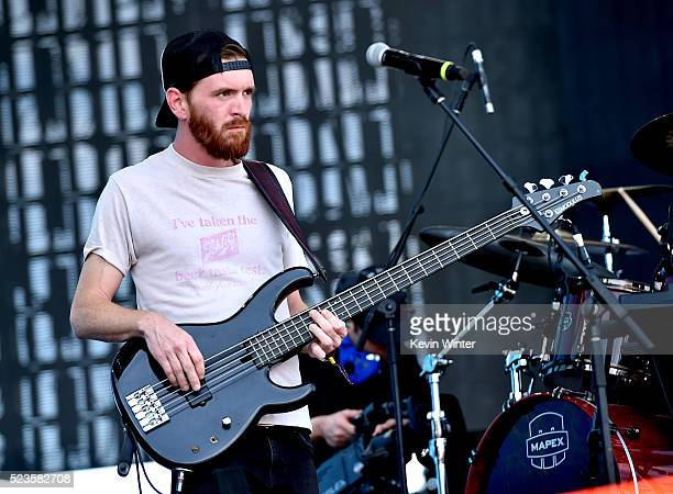 Musician Tommy Putnam of Moon Taxi performs onstage during day 2 of the 2016 Coachella Valley Music Arts Festival Weekend 2 at the Empire Polo Club...