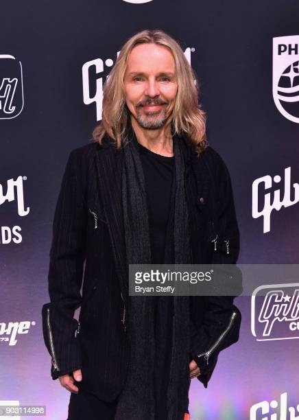 Musician Tommy Shaw of Styx attends the Gibson rocks opening of CES 2018 at the Las Vegas Convention Center on January 9 2018 in Las Vegas Nevada