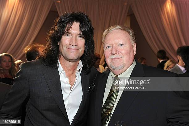 Musician Tommy Thayer and guest attend the wedding of Gene Simmons and Shannon Tweed at the Beverly Hills Hotel on October 1 2011 in Los Angeles...