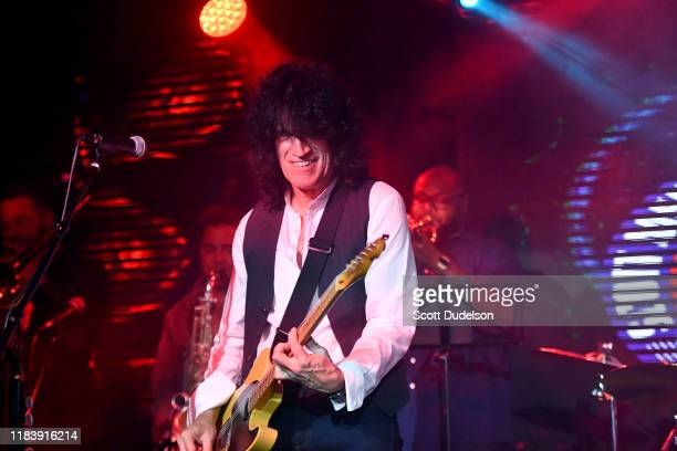 Musician Tommy Thayer of the band KISS performs onstage during the 2019 Medlock Krieger All Star welcome concert benefiting Simms/Mann UCLA Center...
