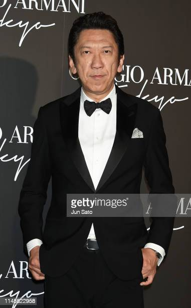 Musician Tomoyasu Hotei attends the Georgio Armani 2020 Cruise Collection at the Tokyo National Museum on May 24 2019 in Tokyo Japan