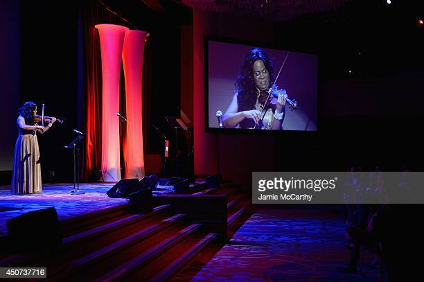 Musician Tona Brown performs onstage during the Trevor Project's 2014 'TrevorLIVE NY' Event at the Marriott Marquis Hotel on June 16 2014 in New York...
