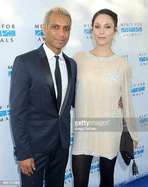 Musician Tony Kanal and Erin Lokitz arrive at The Hidden Heroes Gala presented by Mercy For Animals at Unici Casa on August 29 2015 in Culver City...