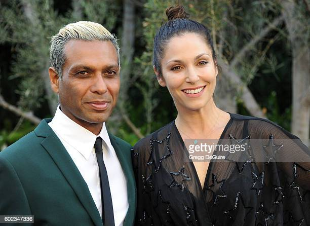 Musician Tony Kanal and wife Erin Lokitz arrive at Mercy For Animals Hidden Heroes Gala 2016 at Vibiana on September 10 2016 in Los Angeles California