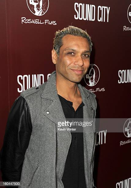 """Musician Tony Kanal arrives at the premiere of """"Sound City"""" at ArcLight Cinemas Cinerama Dome on January 31, 2013 in Hollywood, California."""