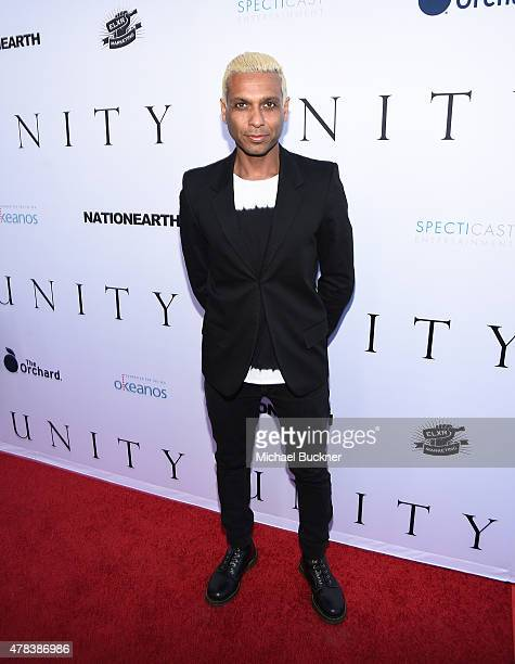Musician Tony Kanal attends the world premiere of UNITY at the DGA Theater on June 24 2015 in Los Angeles California