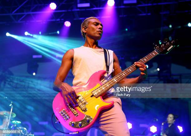 Musician Tony Kanal of Dreamcar performs onstage at the Gobi tent during day 2 of the Coachella Valley Music And Arts Festival at Empire Polo Club on...