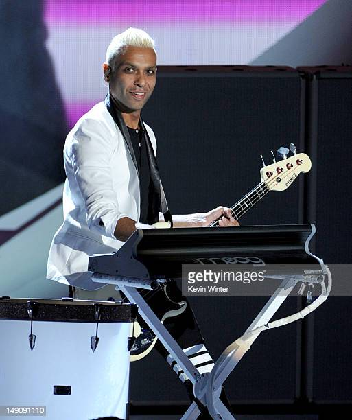 """Musician Tony Kanal of """"No Doubt"""" performs onstage during the 2012 Teen Choice Awards at Gibson Amphitheatre on July 22, 2012 in Universal City,..."""