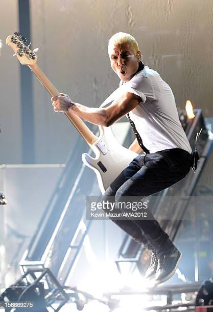 Musician Tony Kanal of No Doubt performs onstage during the 40th American Music Awards held at Nokia Theatre L.A. Live on November 18, 2012 in Los...