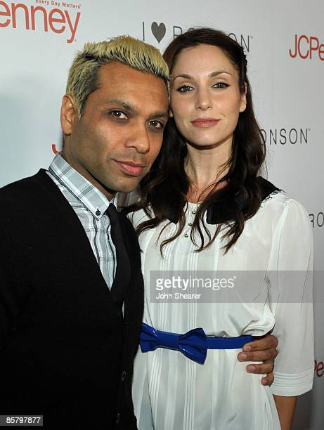 Musician Tony Kanal of the band No Doubt and Erin Lokitz arrive at the I Heart Ronson launch party presented by Charlotte Ronson and JCPenney held at...